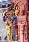 Pilar ornamental del templo fotos de archivo