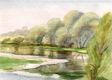 Pilar på floden royaltyfri illustrationer