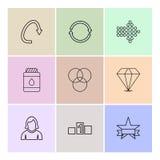 pilar riktningar, avataren, nedladdning, laddar upp, apps, användare I vektor illustrationer