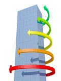 pilar som bygger diagrammet Arkivbild