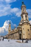Pilar Square, del Pilar de Zaragoza della plaza di Saragozza fotografia stock