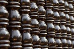 Pilar tailandés de madera del estilo de Brown Fotos de archivo