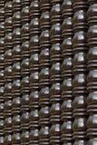 Pilar tailandés de madera del estilo de Brown Foto de archivo libre de regalías
