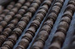 Pilar tailandés de madera del estilo de Brown Imagenes de archivo