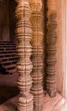 Pilar tallado del templo Imagen de archivo libre de regalías