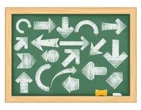 pilar tecknad hand Arkivbild