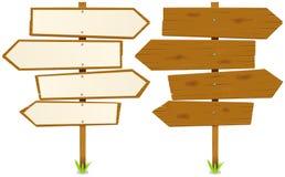pilar undertecknar trä vektor illustrationer