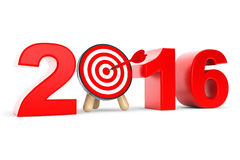 Pilar uppsätta som mål som 2016 år tecken Arkivbilder