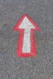 Pilar vägen Arkivfoto