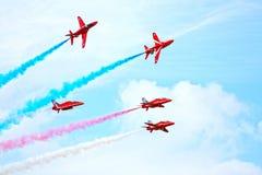 pilar visar det röda laget Royaltyfria Foton