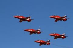 pilar visar det röda laget Royaltyfria Bilder
