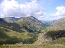 Pilar visto del área de Brin Crag, distrito del lago fotografía de archivo