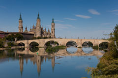 The Pilar in Zaragoza Stock Photos
