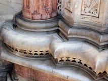 Pilares adornados Sienna Cathedral, Italia Imágenes de archivo libres de regalías