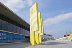 Pilares amarillos Fotos de archivo libres de regalías