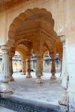 Pilares Amer Fort, Jaipur Foto de archivo