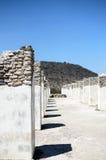 Pilares antiguos de la civilización de Toltec fotografía de archivo
