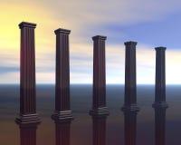 Pilares arquitectónicos stock de ilustración