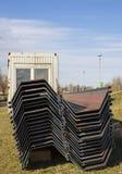 Pilares de acero de la construcción con formas específicas foto de archivo libre de regalías