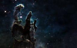 Pilares de la creación Espacio profundo Paisaje cósmico hermoso Los elementos de la imagen son suministrados por la NASA foto de archivo libre de regalías