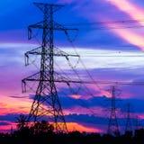 Pilares de la electricidad Fotografía de archivo libre de regalías