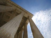 Pilares de la justicia fotografía de archivo