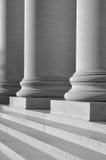 Pilares de la ley y de la educación Fotografía de archivo libre de regalías