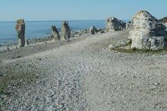 Pilares de la piedra caliza Foto de archivo