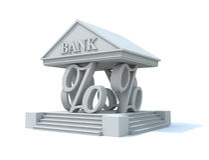 Pilares de las actividades bancarias Fotos de archivo libres de regalías