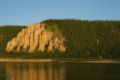 Pilares de Lena, naturaleza de Siberia del este imagenes de archivo