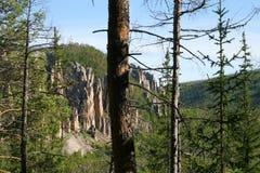 Pilares de Lena, naturaleza de Siberia del este imagen de archivo libre de regalías
