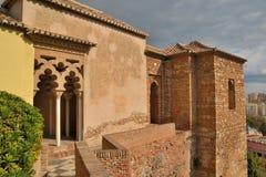 Pilares del Alcazaba árabe imágenes de archivo libres de regalías