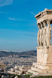 Pilares del Erechtheion Foto de archivo libre de regalías