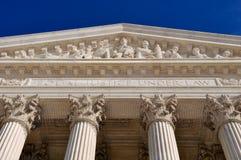 Pilares del Tribunal Supremo de Estados Unidos Imagen de archivo