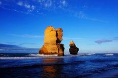 Pilares en el mar Imagenes de archivo
