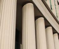 Pilares en el palacio de justicia Fotos de archivo