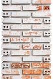 Pilares modelados del ladrillo Fotografía de archivo
