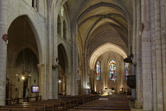 Pilars of the Church of Saint Peter of Montmartre Stock Image