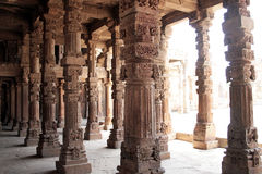 Pilars at the Khutub Minar Stock Images