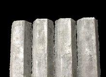 Pilas concretas de la fundación del hexágono Imagen de archivo