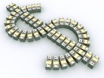 Pilas de $100 cuentas Imagen de archivo libre de regalías