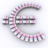 Pilas de 500 cuentas euro Foto de archivo