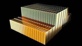 Pilas de barras de oro Foto de archivo