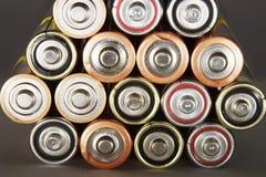 Pilas de batería Foto de archivo