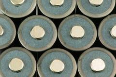 Pilas de batería apiladas Fotografía de archivo libre de regalías