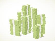 Pilas de billetes de banco Foto de archivo