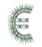 Pilas de 100 billetes de banco euro Imagenes de archivo
