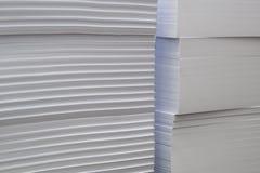 Pilas de bloques del Libro Blanco Fotos de archivo