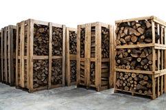 Pilas de bosque del fuego Fotografía de archivo libre de regalías