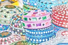 Pilas de cajas en colorido Foto de archivo libre de regalías